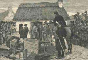 Famine Eviction in Ireland
